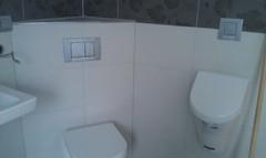 WC-Bereich im Badezimmer
